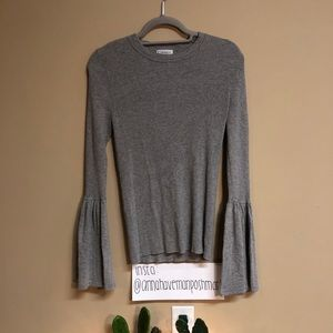 Grey Carmen by Marc Valvo Sweater Size Medium